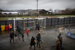 AFC Fylde 1, Aldershot Town 0, 14/03/2020. Mill Farm, National League. Home supporters leaving the stadium after AFC Fylde took on Aldershot Town in a National League game at Mill Farm, Wesham. The fixture was played against the backdrop of the total postponement of all Premier League and EFL football matches due to the the coronavirus outbreak. The home team won the match 1-0 with first-half goal by Danny Philliskirk watched by a crowd of 1668. Photo by Colin McPherson.