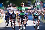 Green Jersey Wout Van Aert (BEL) Team Jumbo-Visma wins Stage 5 of the Criterium du Dauphine 2019, running 201km from Boen-sur-Lignon to Voiron, France. 13th June 2019.<br /> Picture: Mario Stiehl/Radsport | Cyclefile<br /> All photos usage must carry mandatory copyright credit (© Cyclefile | Mario Stiehl/Radsport)