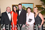 RANGERS: Enjoying the Feale Rangers Ball in The Listowel Arms Hotel on Friday night were Johnny Byrnes, Louise Sugrue, William Byrnes, Mai Dillon and Maria Woulfe.   Copyright Kerry's Eye 2008