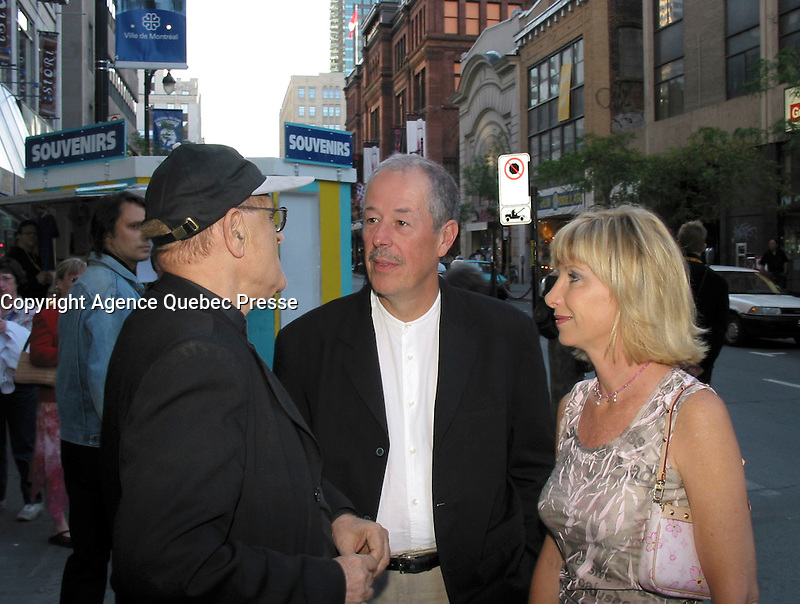 sept 2,  2003, Montreal, Quebec, Canada<br /> <br /> Serge Losique, Denys Arcand, Denise Robert<br /> <br /> <br /> <br /> The Montreal World Film Festival  pay tribute to noted Montreal producer Denise Robert.<br /> . Robert  receive the Special Prize of the Americas and three of her productions are shown within the framework of the tribute: Straight to the Heart, The Confessional and The Barbarian Invasions. <br /> <br /> The Festival runs from August 27th to september 7th, 2003