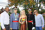 "Anthony (2nd left) Valley Forge with Haley and xx pose with General Hospital's Scott Reeves ""Dr. Steven Lars Webber"" is the Celebrity Grand Marshal and Sports Celebrity Virginia Tech, NFL, WFL wide receiver Shawn Scales at the 33rd Annual Mountain State Apple Harvest Festival (MSAHF) 2012 parade on October 20, 2012 as well as attending the Bob Elmer Celebrity Sports Breakfast sponsored by the Rotary Club and the Queen's Grand Ball at the Historic Shenandoah Hotel in Martinsburg, West Virginia. (Photo by Sue Coflin/Max Photos)"