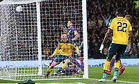 2nd November 2019; Hampden Park, Glasgow, Scotland; Scottish League Cup Football, Hibernian versus Celtic; Callum McGregor of Celtic makes it 2-0 to Celtic in the 21st minute from close range - Editorial Use