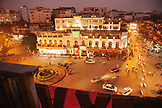 VIETNAM, Hanoi, an elevated night time view of the old quarter next to Hoan Kiem Lake