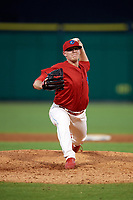 Clearwater Threshers relief pitcher Garrett Cleavinger (40) delivers a pitch during a game against the Florida Fire Frogs on June 1, 2018 at Spectrum Field in Clearwater, Florida.  Florida defeated Clearwater 12-10.  (Mike Janes/Four Seam Images)