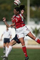 MAR 11, 2006: Quarteira, Portugal:  Denmark captain Katrine Pedersen