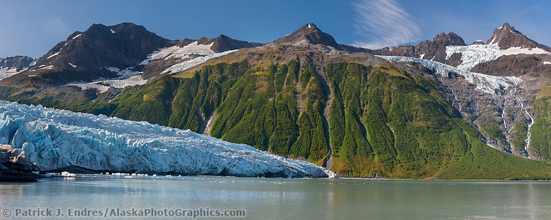 Tidewater face of Harriman glacier, Prince William Sound, southcentral, Alaska.