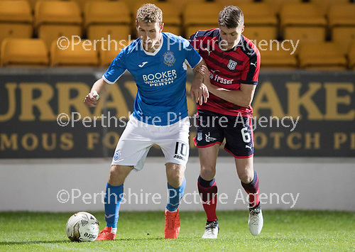 Dave Mackay Testimonial: St Johnstone v Dundee&hellip;06.10.17&hellip;  McDiarmid Park&hellip; <br />David Wotherspoon and Jordan Piggott<br />Picture by Graeme Hart. <br />Copyright Perthshire Picture Agency<br />Tel: 01738 623350  Mobile: 07990 594431