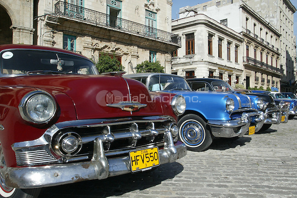 Classic cars pictured on The streets of Cuba on November 16, 2005.. Credit: Jorge Rey/MediaPunch