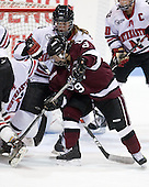 Casie Fields (NU - 9), Emilie Arseneault (Union - 9) -  - The Northeastern University Huskies defeated the Union College Dutchwomen 4-1 on Saturday, October 3, 2009, at Matthews Arena in Boston, Massachusetts.