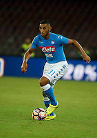 Faouzi Ghoulam  during the  italian serie a soccer match,between SSC Napoli and AC Chievo       at  the San  Paolo   stadium in Naples  Italy , September 25, 2016