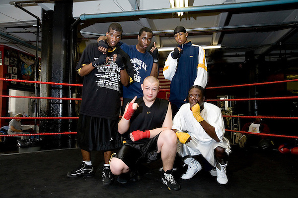 Team Animal, all training under Blimp for the 2006 Golden Gloves.. Gleason's Gym has continued its long standing tradition in the boxing world as a training ground of competitors by putting 5 fighters into the finals of the 2006 Golden Gloves amateur boxing competition.. An inside look at the last 10 days of training for the 5 young fighters.