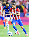 Yannick Ferreira Carrasco of Atletico de Madrid in action during their 2016-17 UEFA Champions League Quarter-Finals 1st leg match between Atletico de Madrid and Leicester City at the Estadio Vicente Calderon on 12 April 2017 in Madrid, Spain. Photo by Diego Gonzalez Souto / Power Sport Images
