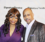 """All My Children's Tonya Pinkins """"Livie Frye"""" and As The World Turns poses with Ruben Santiago-Hudson (All My Children, Another World and Castle) on Opening Night on February 27, 2012 as she stars in Hurt Village at The Pershing Square Signature Center, New York City, New York.  (Photo by Sue Coflin/Max Photos)"""