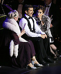 "Nancy Opel, Tony Yazbeck and Rachel Bloom during the Manhattan Concert Productions 25th Anniversary concert performance of ""Crazy for You"" at David Geffen Hall, Lincoln Center on February 19, 2017 in New York City."