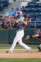 Alex Jackson (10) of the Everett Aquasox at bat during a game against the Hillsboro Hops at Everett Memorial Stadium in Everett, Washington on July 5, 2015.  Hillsboro defeated Everett 11-4. (Ronnie Allen/Four Seam Images)