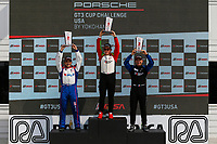 Race 2, Platinum Masters Podium, #45 Wright Motorsports, Porsche 991 / 2018, GT3P: Charlie Luck (M), #99 AM Motorsports/Kelly-Moss, Porsche 991 / 2018, GT3P: Alan Metni (M), #20 Wright Motorsports, Porsche 991 / 2017, GT3P: Fred Poordad (M)