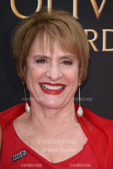 Patti LuPone arriving for the Olivier Awards 2018 at the Royal Albert Hall, London, UK. <br /> 08 April  2018<br /> Picture: Steve Vas/Featureflash/SilverHub 0208 004 5359 sales@silverhubmedia.com