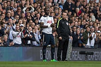 Moussa Sissoko of Tottenham Hotspur waits to come on as a substitute during the Premier League match between Tottenham Hotspur and Bournemouth at White Hart Lane, London, England on 15 April 2017. Photo by Mark  Hawkins / PRiME Media Images.
