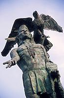 Amérique/Amérique du Nord/USA/Etats-Unis/Vallée du Delaware/Pennsylvanie/Philadelphie : Statue du chef indien Tamaneno près de Penn's view Hotel
