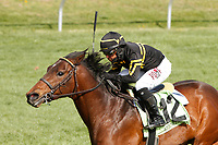 LEXINGTON, KY - April 07, 2018. #12 Bound For Nowhere and jockey Julio Garcia win the 22nd running of The Shakertown Grade 2 $200,000 for owner and trainer, Wesley Ward at Keeneland Race Course.  Lexington, Kentucky. (Photo by Candice Chavez/Eclipse Sportswire/Getty Images)