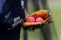 Pink balls in the catcher's mitt during Essex CCC vs Middlesex CCC, Specsavers County Championship Division 1 Cricket at The Cloudfm County Ground on 26th June 2017