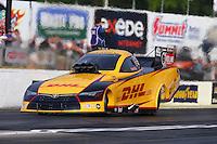May 15, 2015; Commerce, GA, USA; NHRA funny car driver Del Worsham during qualifying for the Southern Nationals at Atlanta Dragway. Mandatory Credit: Mark J. Rebilas-USA TODAY Sports