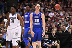 MILWAUKEE, WI - MARCH 18: Middle Tennessee Blue Raiders forward Reggie Upshaw (30) reacts to a traveling violation during the second half of the 2017 NCAA Men's Basketball Tournament held at BMO Harris Bradley Center on March 18, 2017 in Milwaukee, Wisconsin. (Photo by Jamie Schwaberow/NCAA Photos via Getty Images)