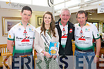 Tom Foley, Kerry Rose Mary Hickey,  Fionnbar Walsh, and Kevin Kelly at the Ballyseedy Garden Centre Family fun Day in aid of the Home to Rome Cycle on Sunday