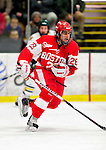 9 January 2011: Boston University Terrier forward Sahir Gill, a Freshman from Terrace, British Columbia, in action against the University of Vermont Catamounts at Gutterson Fieldhouse in Burlington, Vermont. The Terriers defeated the Catamounts 4-2 in Hockey East play. Mandatory Credit: Ed Wolfstein Photo