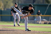 March 13, 2010:  Pitcher/Designated Hitter Joey Henshaw of Army vs. Long Island University Blackbirds in a game at Henley Field in Lakeland, FL.  Photo By Mike Janes/Four Seam Images