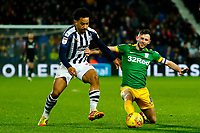 25th February 2020; The Hawthorns, West Bromwich, West Midlands, England; English Championship Football, West Bromwich Albion versus Preston North End; Matheus Pereira of West Bromwich Albion is tackled by Alan Browne of Preston North End