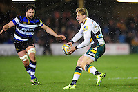 Harry Mallinder of Northampton Saints looks to pass the ball. Aviva Premiership match, between Bath Rugby and Northampton Saints on February 10, 2017 at the Recreation Ground in Bath, England. Photo by: Patrick Khachfe / Onside Images