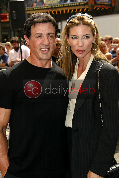 Sylvester Stallone and Jennifer Flavin<br />at the Ceremony Honoring Mike Medavoy with a star on the Hollywood Walk of Fame. Hollywood Boulevard, Hollywood, CA. 09-19-05<br />Dave Edwards/DailyCeleb.Com 818-249-4998