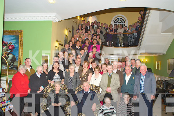 Marie and Michael Healy, Daltons Avenue, Killarney pictured with their family and many friends as they celebrated 40th of wedding bliss in the Dromhall on Friday night.   Copyright Kerry's Eye 2008