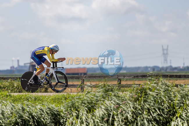 Tobias Ludvigsson (SWE) in action during the 2019 ITT Elite Men European Championships, 8th August 2019. Photo by Thomas van Bracht / PelotonPhotos.com | All photos usage must carry mandatory copyright credit (Peloton Photos | Thomas van Bracht)