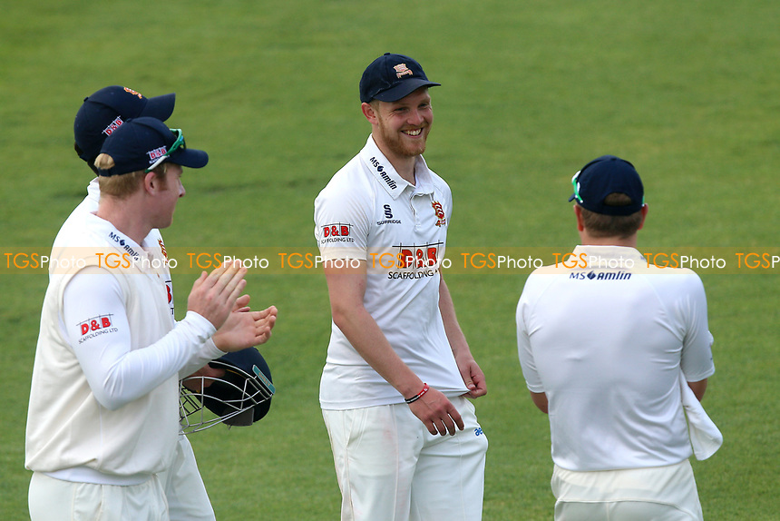 Delight for Jamie Porter of Essex as he leaves the field having taken five wickets for 24 runs during Essex CCC vs Hampshire CCC, Specsavers County Championship Division 1 Cricket at The Cloudfm County Ground on 21st May 2017