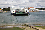 "Sandbanks chain ferry from Studland Poole Harbour England. The present ferry, ""Bramble Bush Bay"", came into service in January 1994, it is the fourth ferry to operate this service since the Bournemouth-Swanage Motor Road and Ferry Company came into being in July 1923 following an Act of Parliament."