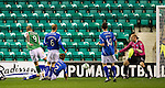 Hibs v St Johnstone...28.09.11   SPL Week.Garry O'Connor puts Hibs 2-1 up.Picture by Graeme Hart..Copyright Perthshire Picture Agency.Tel: 01738 623350  Mobile: 07990 594431
