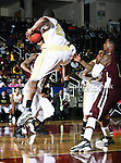 Alabama State Hornets forward Tramayne Moorer (2) in action during the SWAC Tournament game between the Alabama State Hornets and the  Alabama A&M Bulldogs at the Special Events Center in Garland, Texas. Alabama State Hornets defeat Alabama A&M Bulldogs 81 to 61