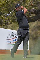 Patrick Reed (USA) watches his tee shot on 10 during round 1 of the World Golf Championships, Dell Match Play, Austin Country Club, Austin, Texas. 3/21/2018.<br /> Picture: Golffile | Ken Murray<br /> <br /> <br /> All photo usage must carry mandatory copyright credit (&copy; Golffile | Ken Murray)