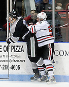 Mark Fayne (Providence - 4), Tyler McNeely (NU - 94) - The Northeastern University Huskies defeated the Providence College Friars 3-1 (EN) on Tuesday, January 19, 2010, at Matthews Arena in Boston, Massachusetts.