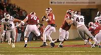 NWA Democrat-Gazette/MICHAEL WOODS • University of Arkansas quarterback Brandon Allen drops back to pass in the 2nd quarter of Saturday nights game at Razorback Stadium November 21, 2015.