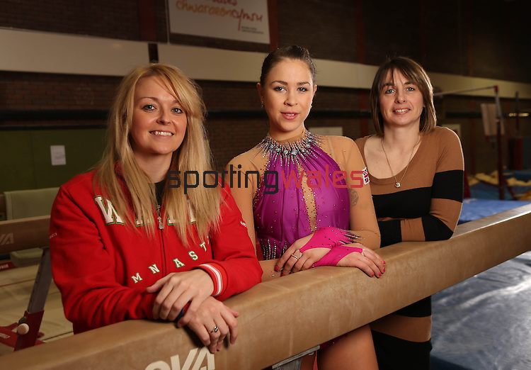 Welsh Gymnastics.Nia Thomas, Frankie Jones and Jo Coombs..21.03.13.©Steve Pope