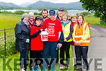 Karen and Paul McGovern from Dunleer, Co. Louth walking from Mizen Head to Malin Head to raise money for MS Ireland pictured with supporters on the route to Killarney last Thursday front l-r Pamela Walsh, Kathleen Sheehan, and Maggie McAuliffe, back l-r Les Nolan, James Lynch, Pat O'Neill and Rosemary Nolan