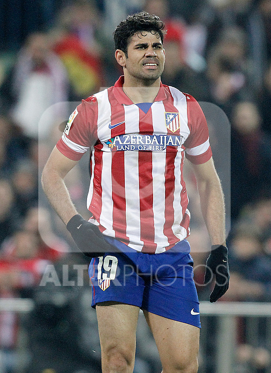 Atletico de Madrid's Diego Costa during La Liga match.January 11,2014. (ALTERPHOTOS/Acero)