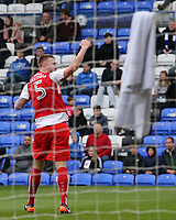 Fleetwood Town's Ashley Eastham celebrates after scoring his sides second goal <br /> <br /> Photographer David Shipman/CameraSport<br /> <br /> The EFL Sky Bet League One - Peterborough United v Fleetwood Town - Friday 14th April 2016 - ABAX Stadium  - Peterborough<br /> <br /> World Copyright &copy; 2017 CameraSport. All rights reserved. 43 Linden Ave. Countesthorpe. Leicester. England. LE8 5PG - Tel: +44 (0) 116 277 4147 - admin@camerasport.com - www.camerasport.com