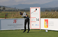 Alvaro Quiros (ESP) on the 14th tee during Round 1 of the Rocco Forte Sicilian Open 2018 on Thursday 10th May 2018.<br /> Picture:  Thos Caffrey / www.golffile.ie<br /> <br /> All photo usage must carry mandatory copyright credit (&copy; Golffile | Thos Caffrey)