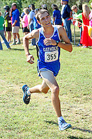 Valle Catholic's Calvin Colvis runs to an 11th place finish in the 1A-2A Varsity 5k at the Hancock Cross Country Invitational in 18:24, Saturday, September 28, in St. Louis, MO.
