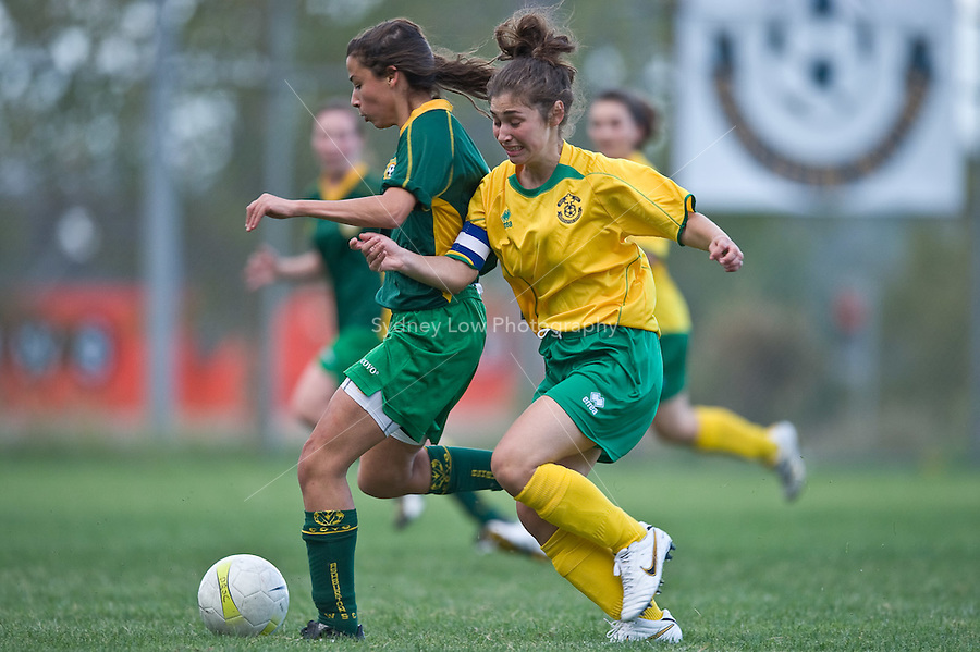 MELBOURNE, AUSTRALIA - April 25, 2010. Round 2 match of the under 15/16A competition in the 2010 FFV winter season between Doncaster Rovers and Ashburton WSC at Andersons Park. Photo Sydney Low www.syd-low.com