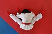 Shirley Rosero, del Liceo del Pacifico de Buenaventura tras competir en karate do categoria B durante las finales en finales departamentales del Valle Del Cauca de Sup&raquo;rate Intercolegiados en Cali el 22 de septiembre de 2014.<br /> Foto: Jaime Saldarriaga/Archivolatino para Sup&raquo;rate Intercolegiados, Coldeportes<br /> <br /> COPYRIGHT: Superate, Coldeportes. <br /> Prohibida su venta y su uso comercial sin autorizaci&euro;n